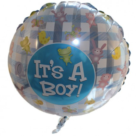 Baby Boy Large Air Filled Balloon